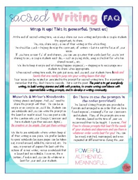 180 Secondary Writing Prompts {Sacred Writing}