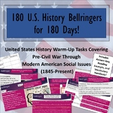 180 US History Bell Ringers for 180 Days of School!