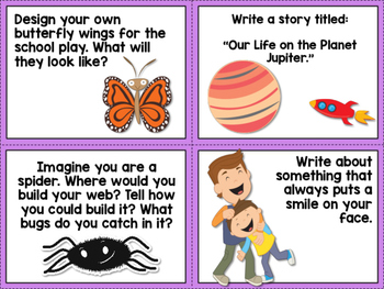 180 Writing Prompt Cards