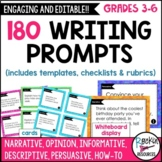 Paragraph Writing Prompts, Essay Writing Prompts, Writing Checklists and Rubrics