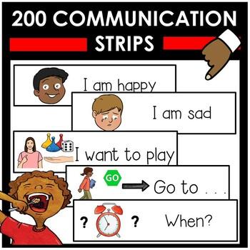 180 visual communication strips. Autism, speech language delays.