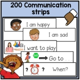 180 visual communication strips. Autism, speech language delays.