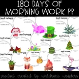 180 days of Morning Work Power Point