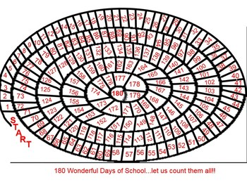 180 days of school counting