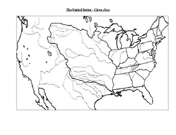 Map Of The Us In 1800.1800 United States Map Activity By Matthew Esposito Tpt
