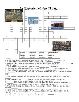 1800's Reforms Crossword Puzzle or Web Quest