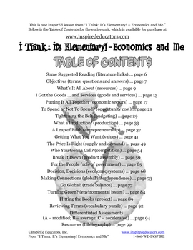 1801-1 Resources and Scarcity (Grades 3-5 Economics)