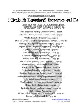 1801-6 Factors of Production (Grades 3-5 Economics)