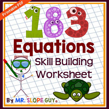 183 Equations to Build Equation Skills PDF Worksheet Pre-Algebra to Algebra 1