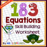 183 Equations to Build Equation Skills PDF Worksheet Pre-A