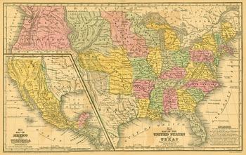1839 Unites States Historical Map
