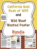 1849 Gold Rush and Wild West Wanted Poster Bundle: Fun Stuff!
