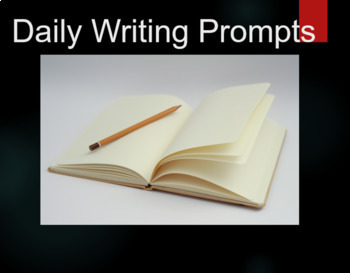 185 Daily Writing Prompts with Photos and Matching Writing Paper