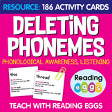 186 Deleting Phonemes Activity Cards