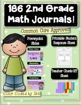 186 2nd Grade Common Core Math Journal Prompts
