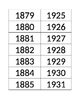 1865 to Present Timeline EDITABLE