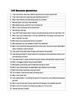 187 Random Questions
