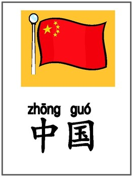 188 Chinese Vocabulary cards 188个常见词汇卡