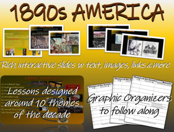 US HISTORY -1890s America - visual, textual, engaging 49-slide PPT