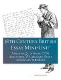 18th Century British Essay Mini-Unit