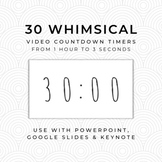 30 WHIMSICAL Video Countdown Timers - For PowerPoint, Goog