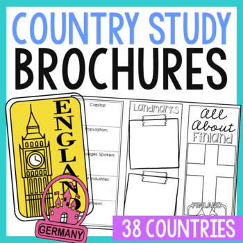 19 Country Brochure Research Projects, Mini Book, Foldables, World Geography