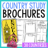 Country Brochure Research Projects Activity, Foldables, World Geography