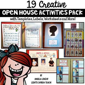 19 Creative Open House Activities Pack!