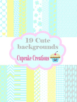 19 Cute Backgrounds (Blue and Yellow)