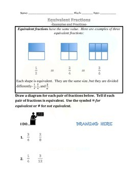 1.9 Equivalent Fractions