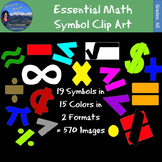 19 Essential Math Symbols Clip Art