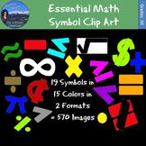 19 Essential Math Symbols Clip Art