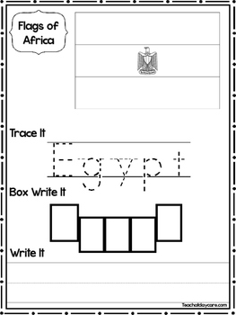 19 Flags of Africa Worksheets Geography Curriculum.