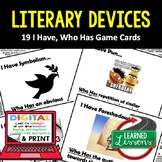 ELA Literary Devices Game Cards, Print & Digital Distance