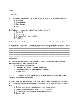 19 - Nonfiction Study of Informational Text Outside Online Article Firefighters