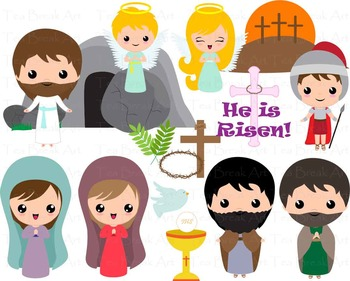 19 PNG Files- The Resurrection/Religious Easter Clipart Set 1- Clip Art 130