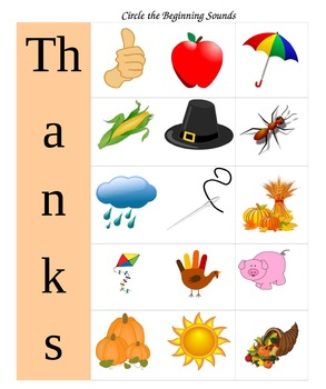 Kindergarten Worksheets for Thanksgiving: Math and Language