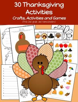 Kindergarten Thanksgiving: Thanksgiving Kindergarten Activities