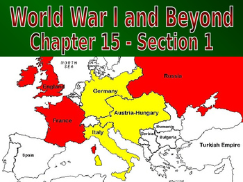 19 - World War I and Beyond - PowerPoint Notes