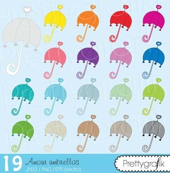 19 umbrella clipart commercial use, vector graphics, digit