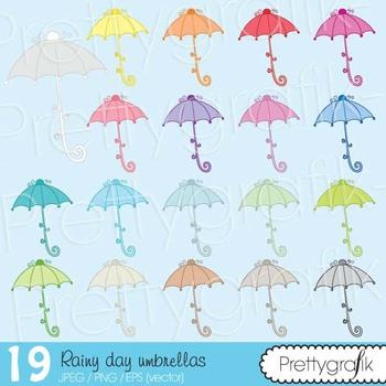 19 umbrella clipart commercial use, vector graphics, digital clip art - CL497