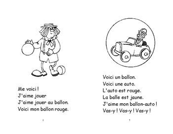 19) une balle-un ballon  - livret de lecture ENFANT C1 Mat. et 1ère