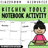 190 Kitchen Tools Notebook Activity