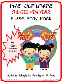 190+ Mega Party Pack of Chinese New Year Activities, Worksheets and Puzzles
