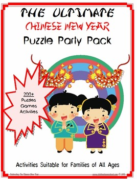 190 Mega Party Pack of Chinese New Year Activities and Puzzles