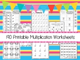 190 Multiplication Math Worksheets Download.  ZIP file. 2nd-4th Grade Math