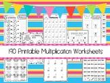 190 Multiplication Math Worksheets Download.  ZIP file. 2n