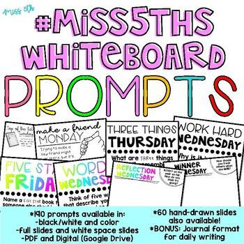 190 Classroom Community Prompts *BUNDLE* (#Miss5thsWhiteboard)