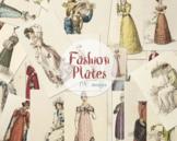 190 Vintage Hand colored Fashion Plates Mega Bundle Ephemera