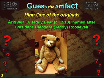 """1910s (World War One) America """"Guess the artifact"""" - engaging (pics & clues)"""